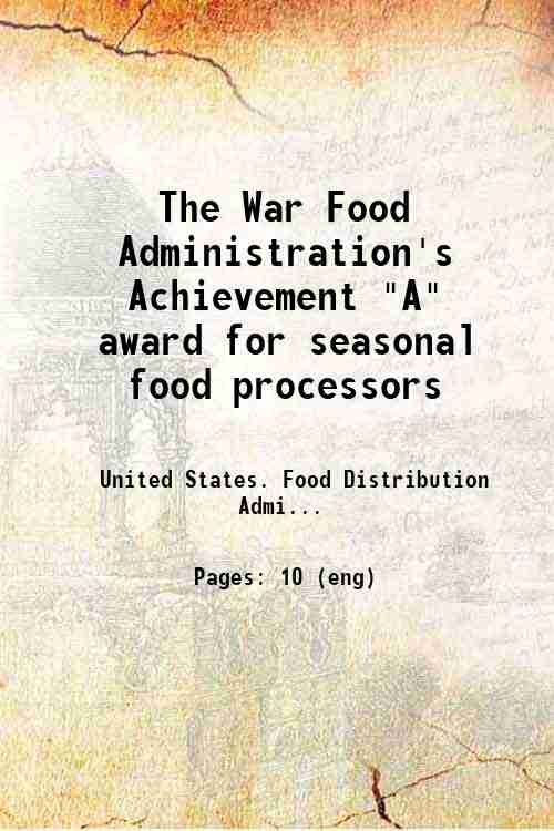 The War Food Administration's Achievement