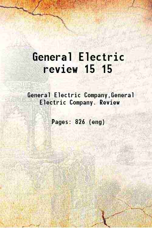 General Electric review 15 15