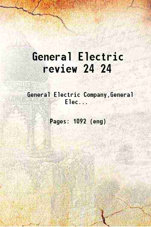 General Electric review 24 24