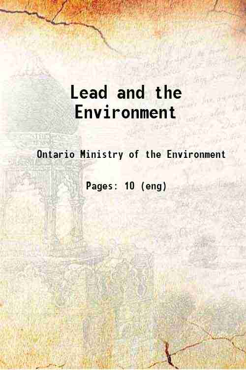 Lead and the Environment