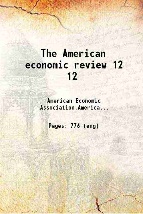 The American economic review 12 12