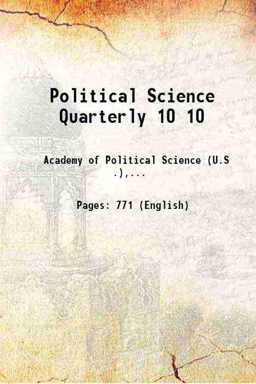 Political Science Quarterly 10 10