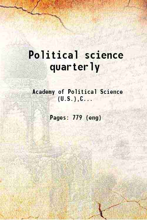 Political science quarterly