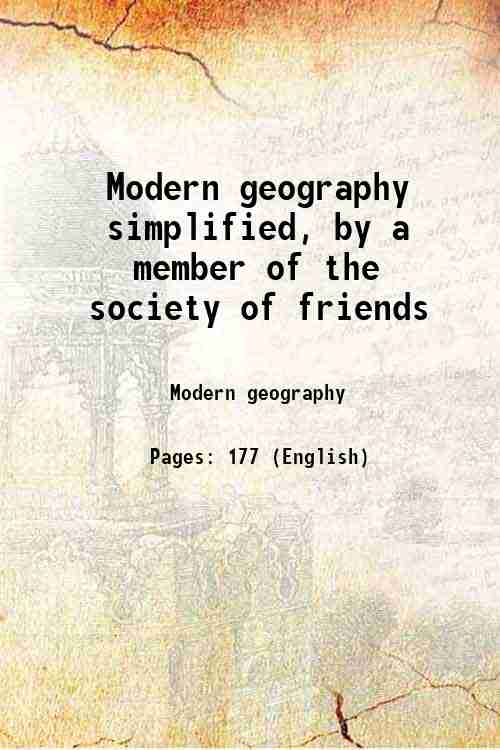 Modern geography simplified, by a member of the society of friends