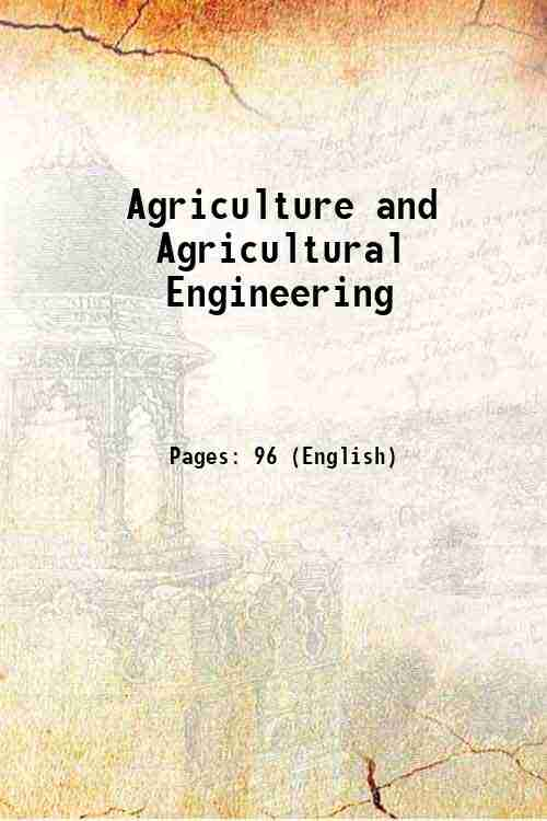 Agriculture and Agricultural Engineering