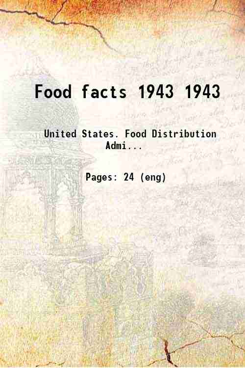 Food facts 1943 1943