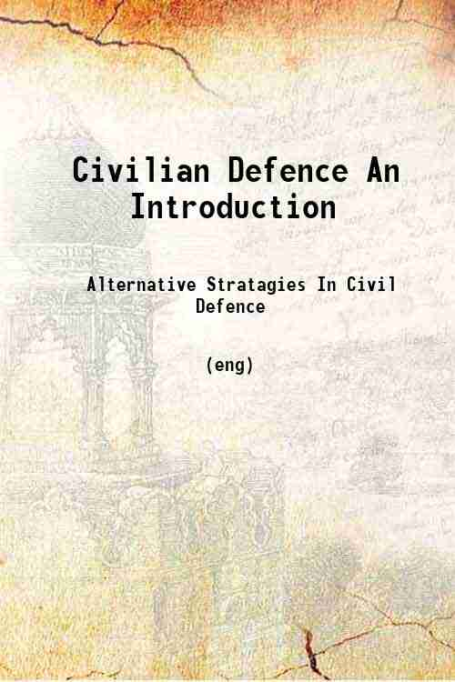 Civilian Defence An Introduction