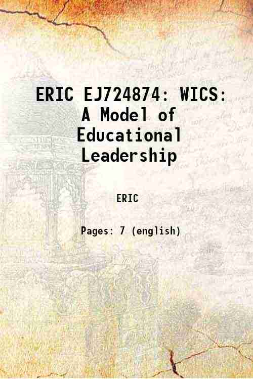 ERIC EJ724874: WICS: A Model of Educational Leadership