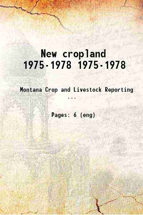 New cropland 1975-1978 1975-1978