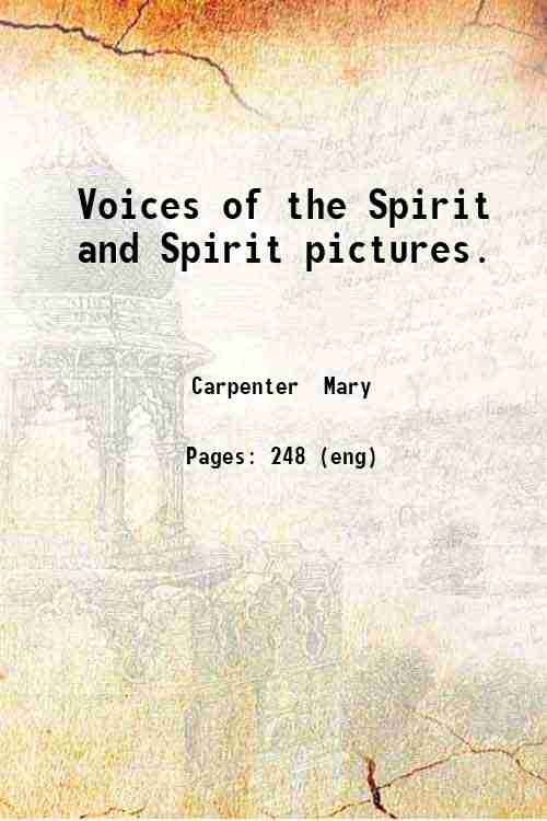 Voices of the Spirit and Spirit pictures.
