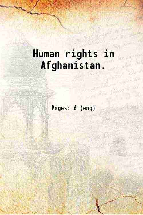 Human rights in Afghanistan.