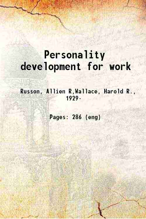Personality development for work