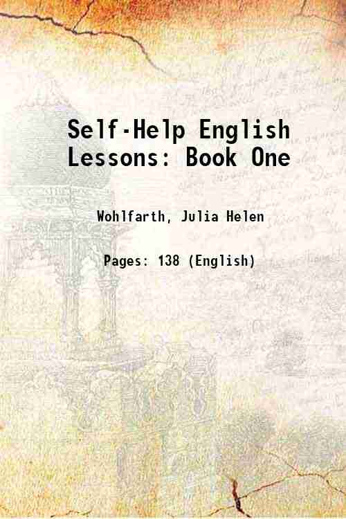 Self-Help English Lessons: Book One