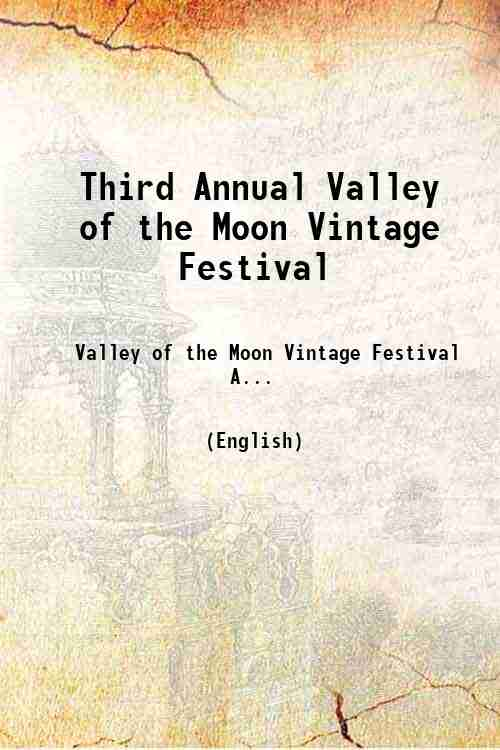 Third Annual Valley of the Moon Vintage Festival