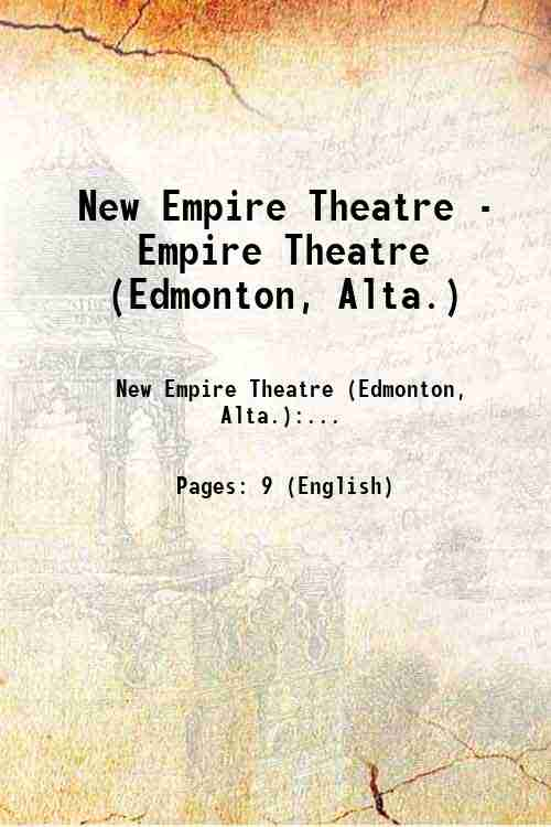 New Empire Theatre - Empire Theatre (Edmonton, Alta.)