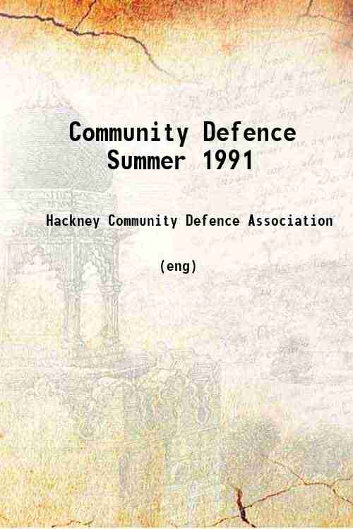 Community Defence Summer 1991