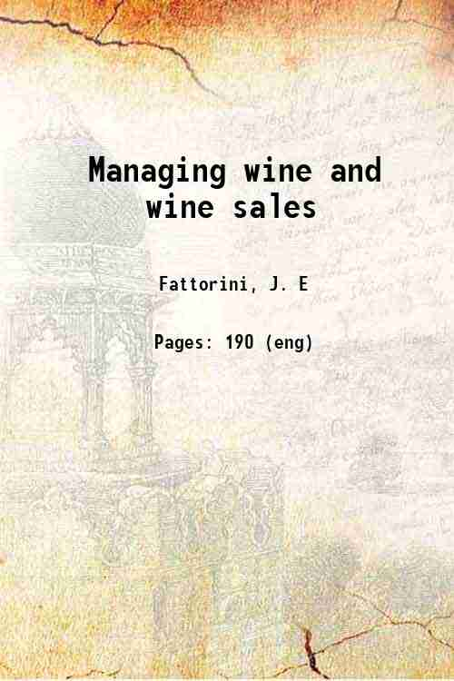 Managing wine and wine sales