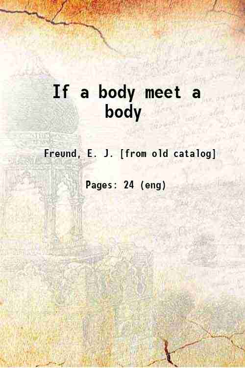 If a body meet a body