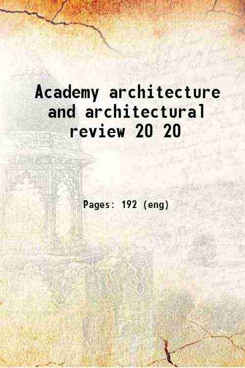 Academy architecture and architectural review 20 20
