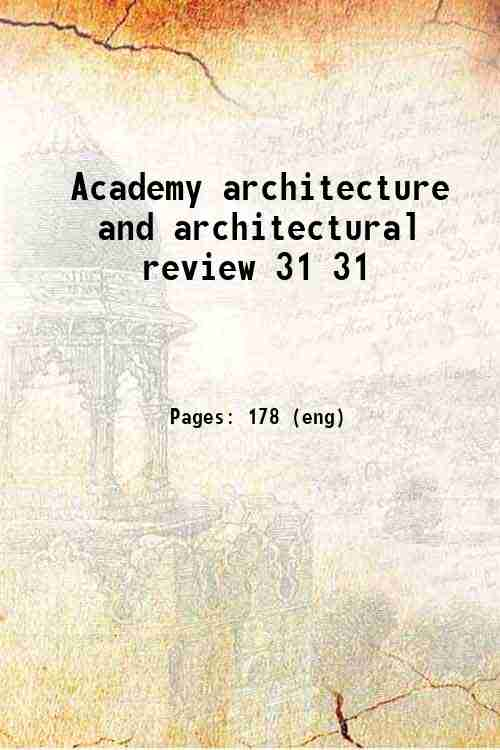 Academy architecture and architectural review 31 31