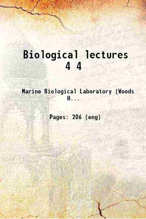 Biological lectures 4 4
