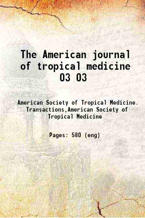 The American journal of tropical medicine 03 03