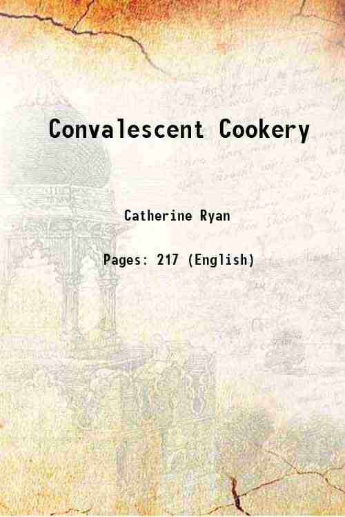 Convalescent Cookery