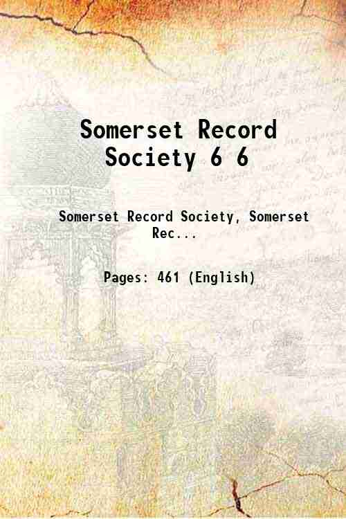 Somerset Record Society 6 6