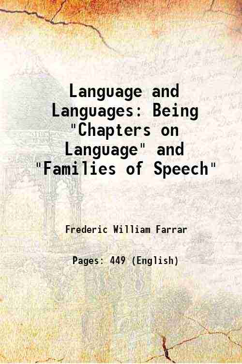 Language and Languages: Being