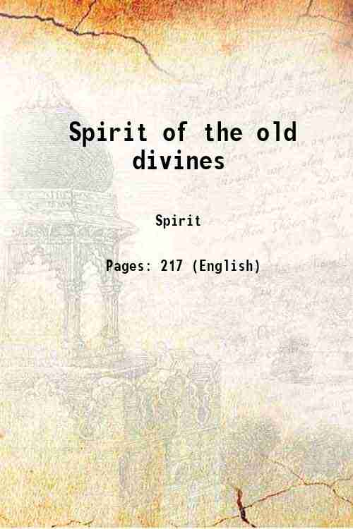 Spirit of the old divines