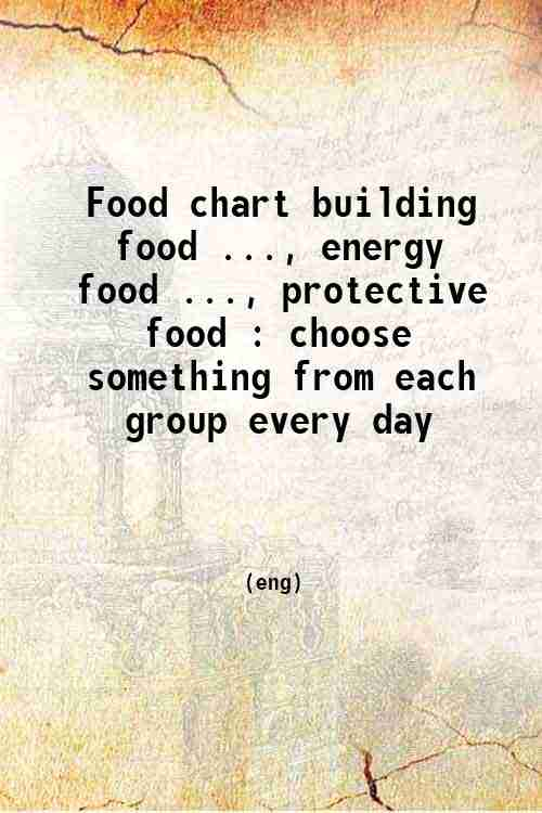 Food chart building food ..., energy food ..., protective food : choose something from each group...