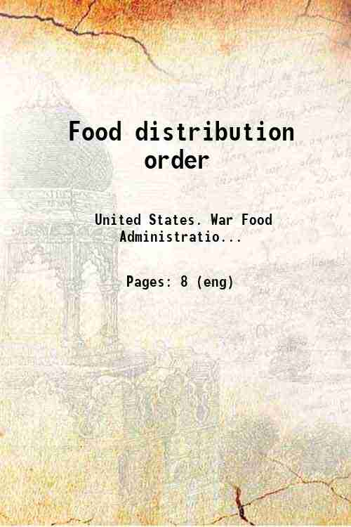 Food distribution order