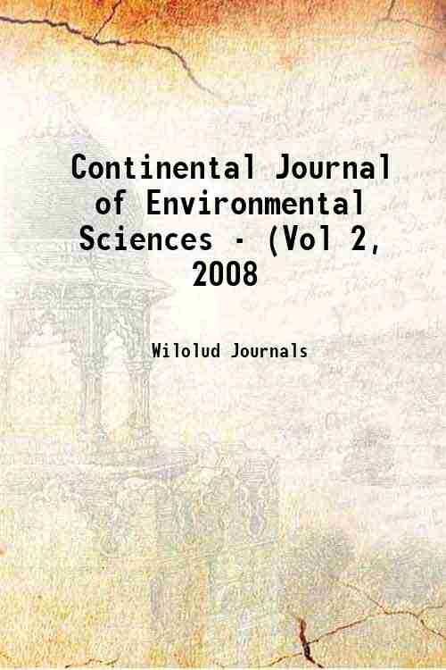 Continental Journal of Environmental Sciences - (Vol 2, 2008
