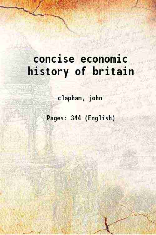 concise economic history of britain
