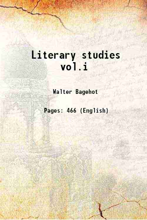 Literary studies vol.i