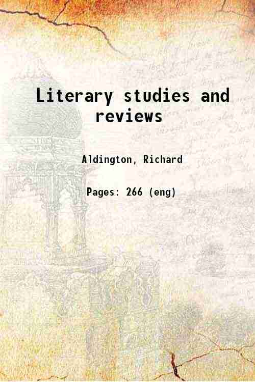 Literary studies and reviews