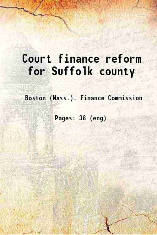 Court finance reform for Suffolk county