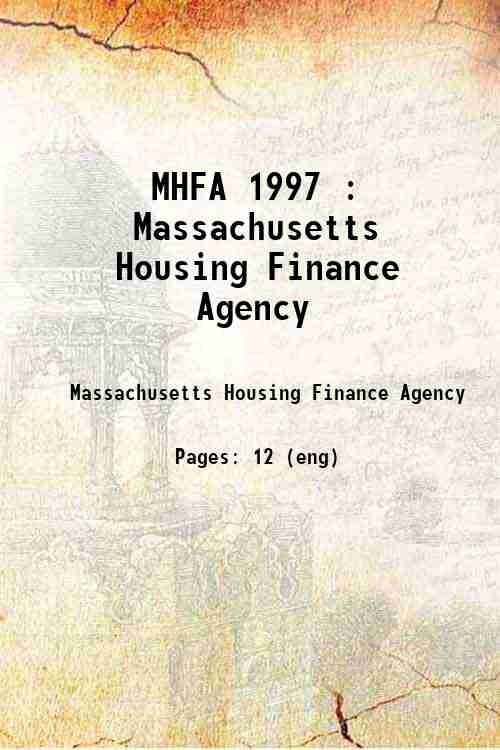 MHFA 1997 : Massachusetts Housing Finance Agency