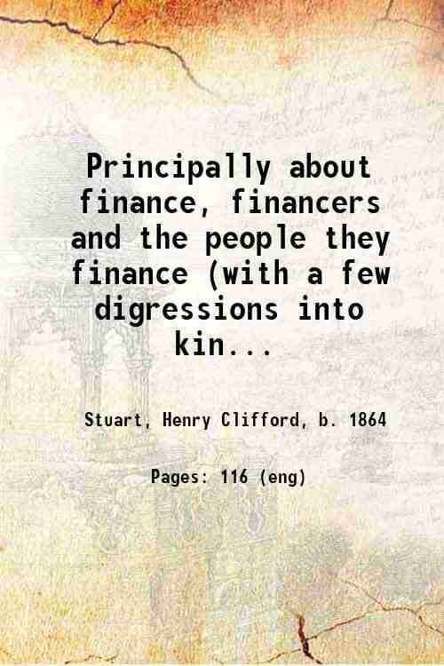 Principally about finance, financers and the people they finance (with a few digressions into kin...