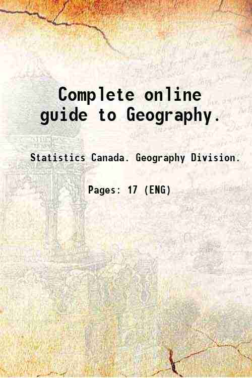 Complete online guide to Geography.