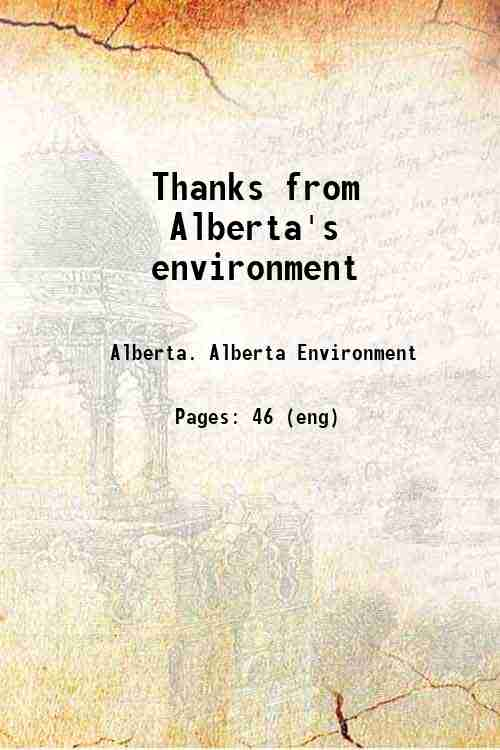 Thanks from Alberta's environment