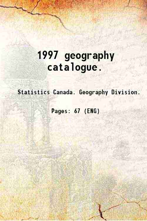 1997 geography catalogue.