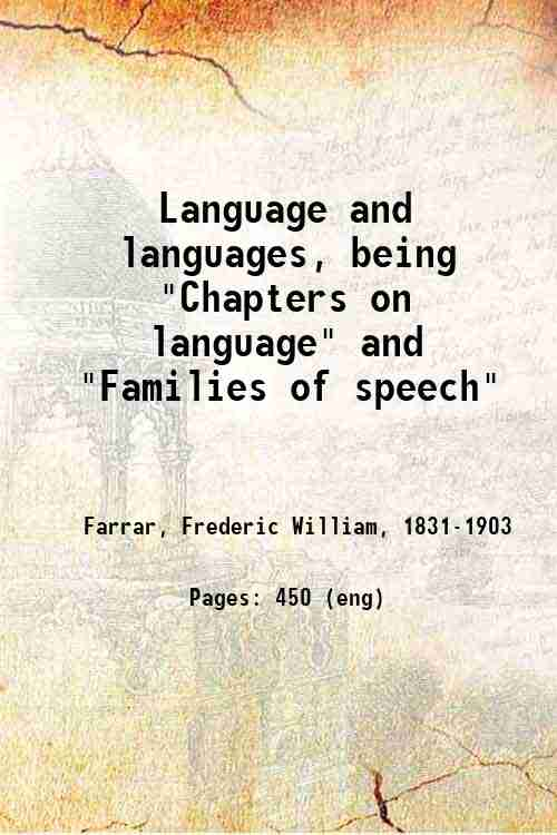 Language and languages, being