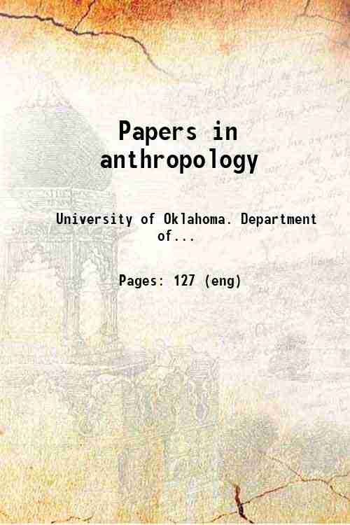 Papers in anthropology