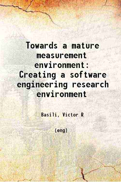 Towards a mature measurement environment: Creating a software engineering research environment
