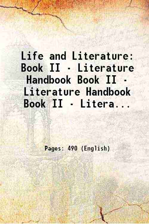 Life and Literature: Book II - Literature Handbook Book II - Literature Handbook Book II - Litera...