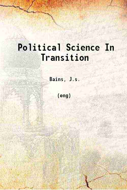 Political Science In Transition