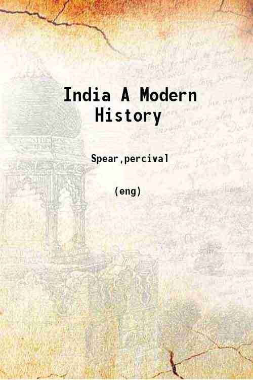 India A Modern History