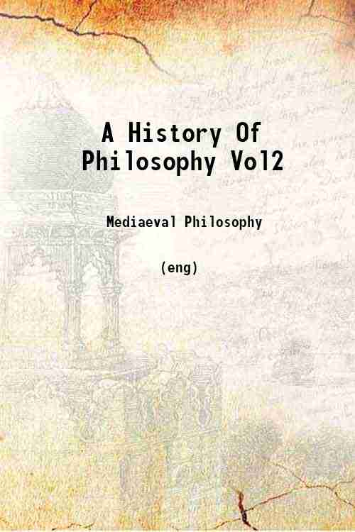 A History Of Philosophy Vol2
