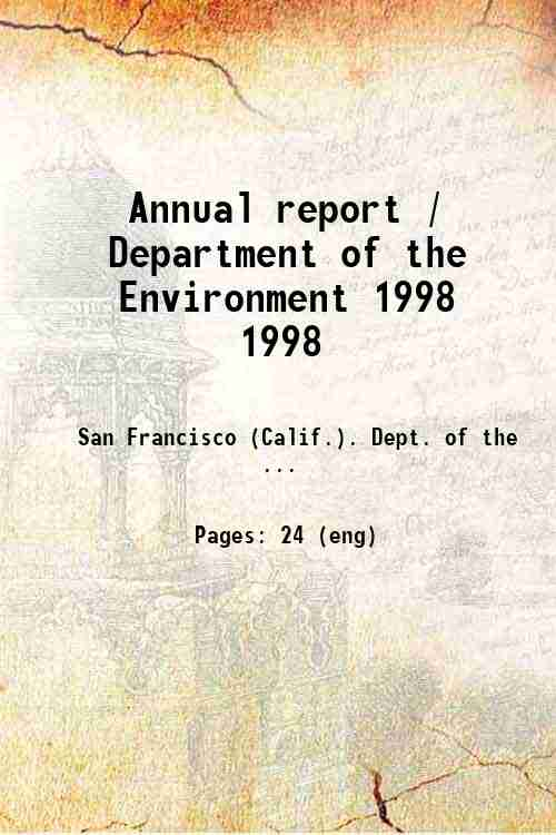 Annual report / Department of the Environment 1998 1998
